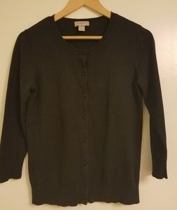 Ann Taylor Loft black cardigan medium 3/4 sleeve
